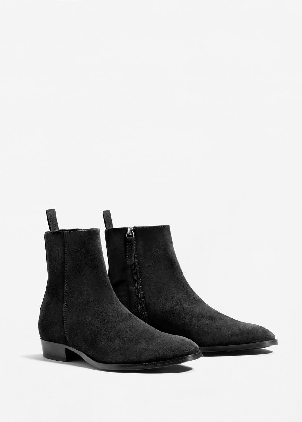 Leather chelsea ankle boots | MANGO MAN