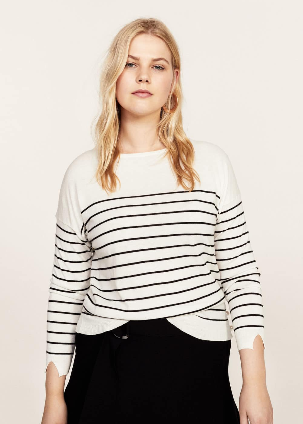 Striped wool-blend sweater | VIOLETA BY MANGO