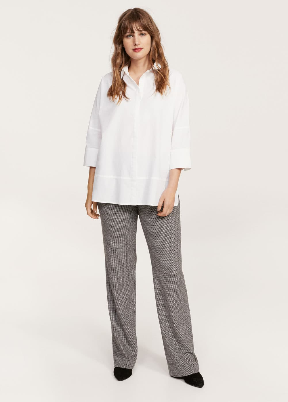 Contrasted buttons shirt | MANGO