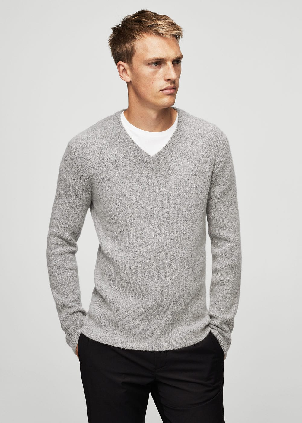 Textured wool-blend sweater | MANGO
