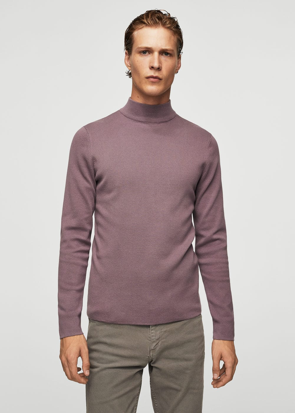 Cotton perkins neck sweater | MANGO