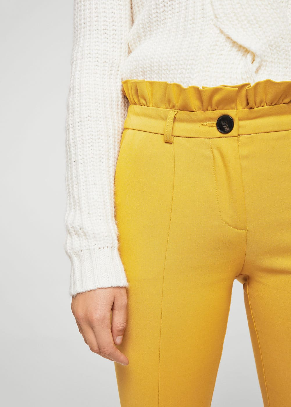 Ruffle flared trousers | MANGO