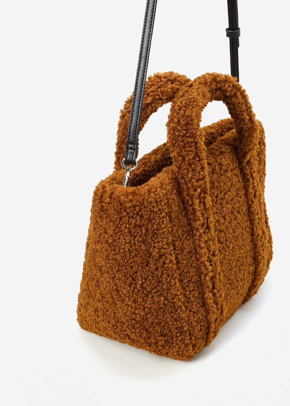 Shopper faux-shearling bag | MANGO