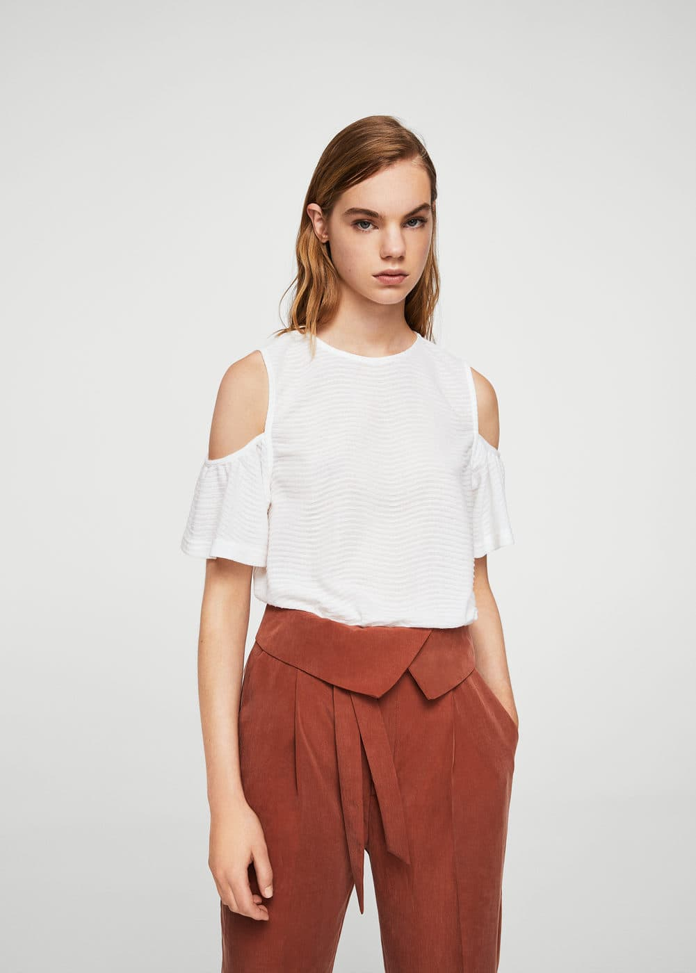 Top cold shoulder | MANGO