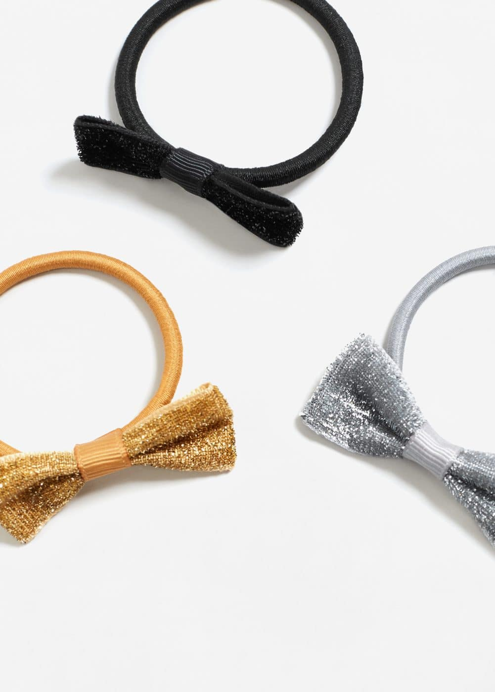Bow hair tie set | MANGO