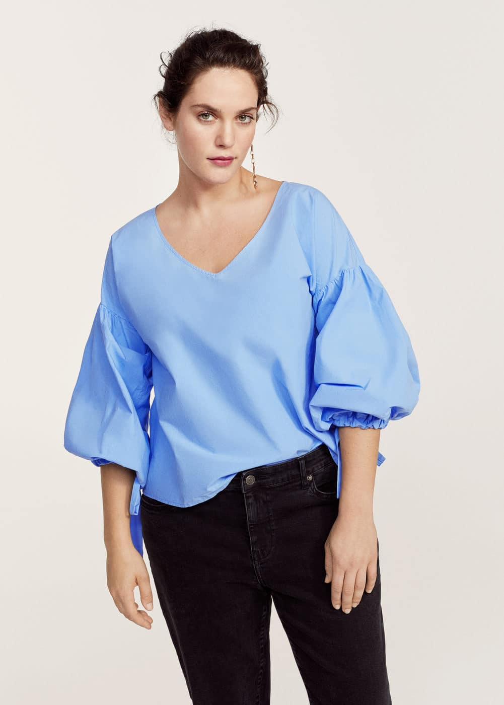 Puffed sleeves blouse | VIOLETA BY MANGO