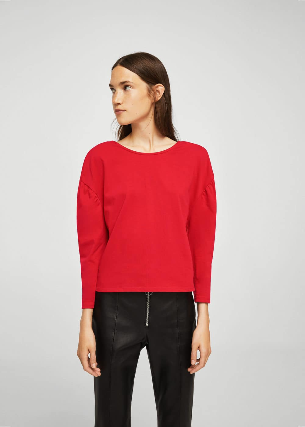 Puffed-shoulder sweatshirt | MANGO