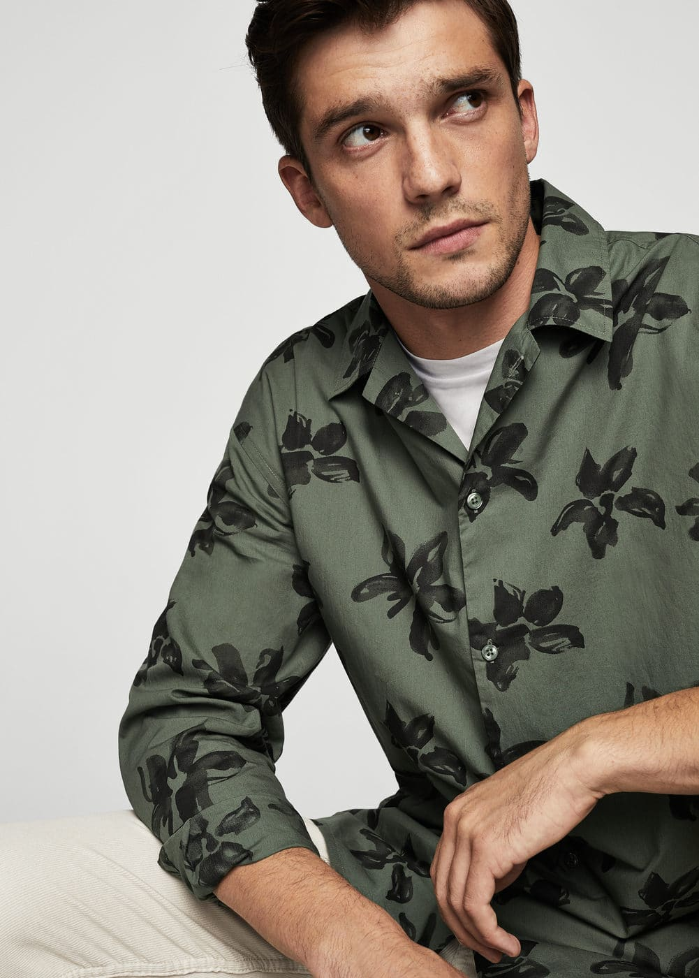 Camisa regular-fit estampado floral | MANGO