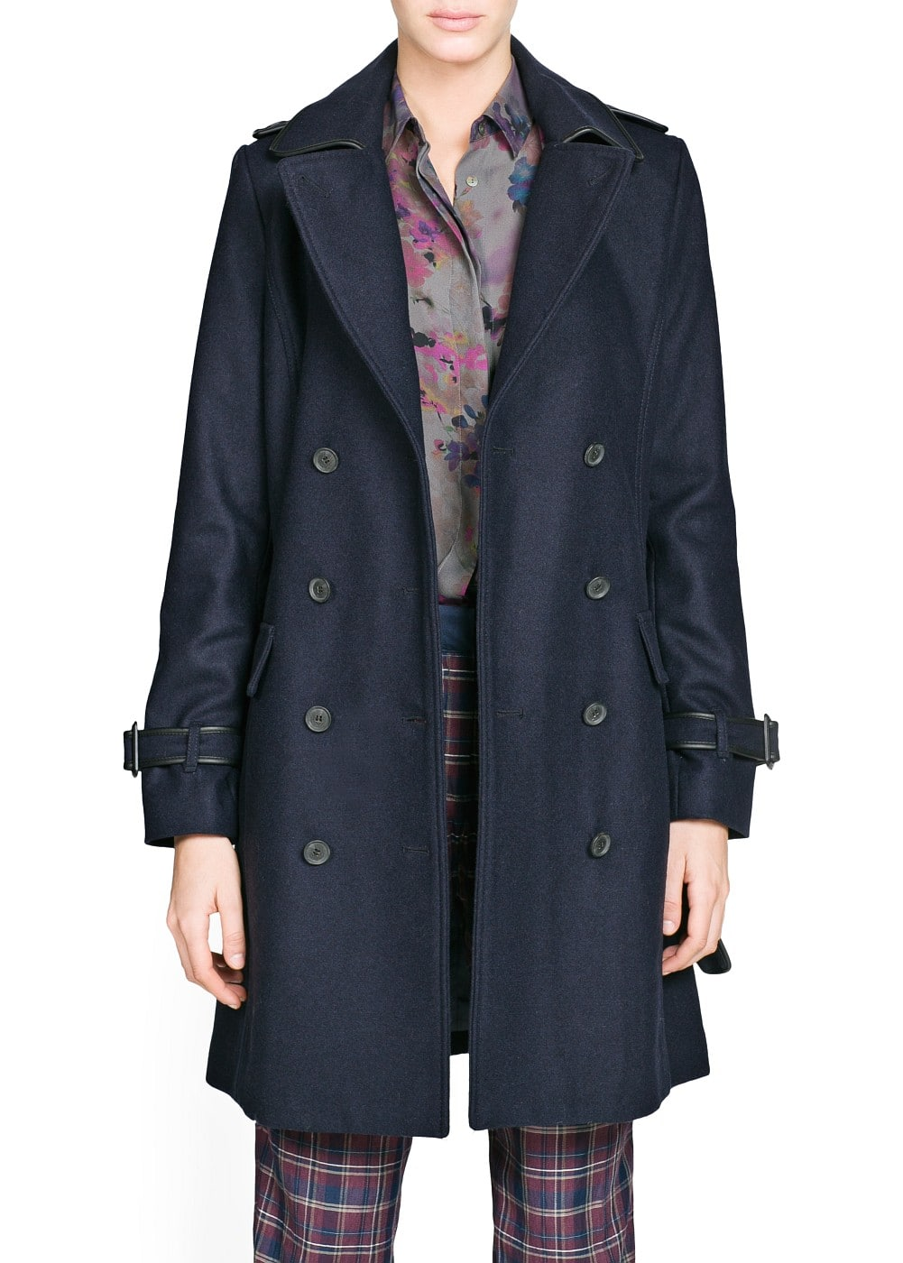 Wool-blend trench coat | MANGO