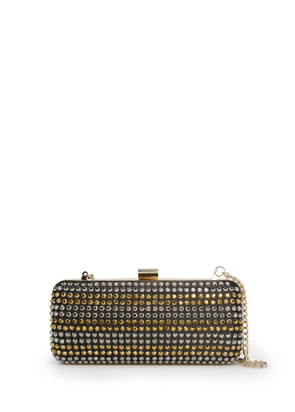 Rhinestone box clutch | MANGO