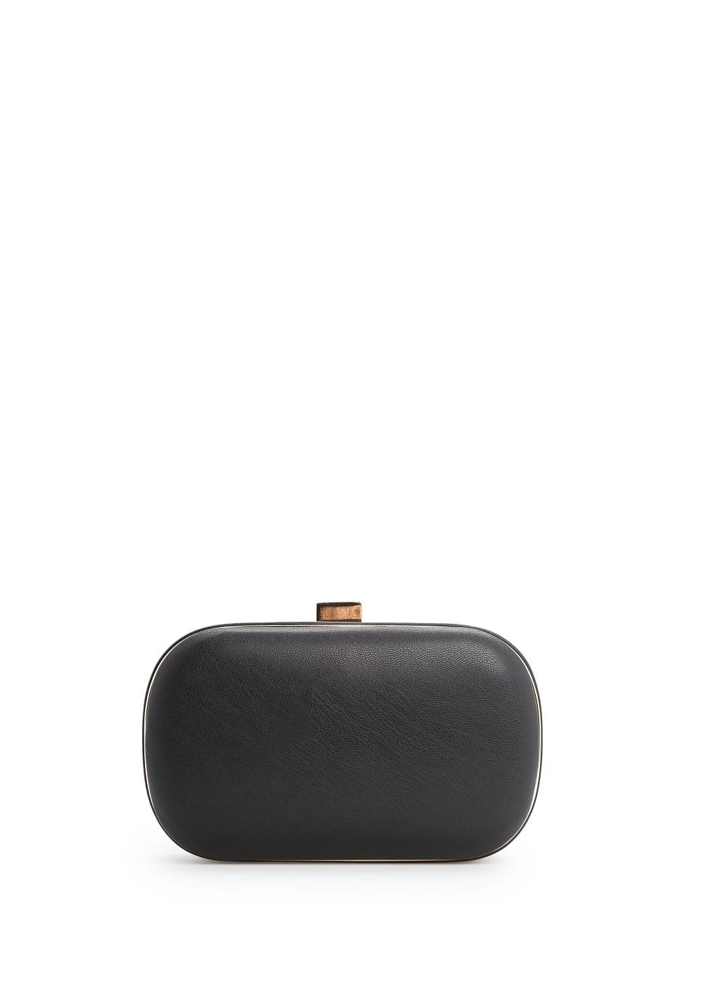 Metal frame box clutch | MANGO