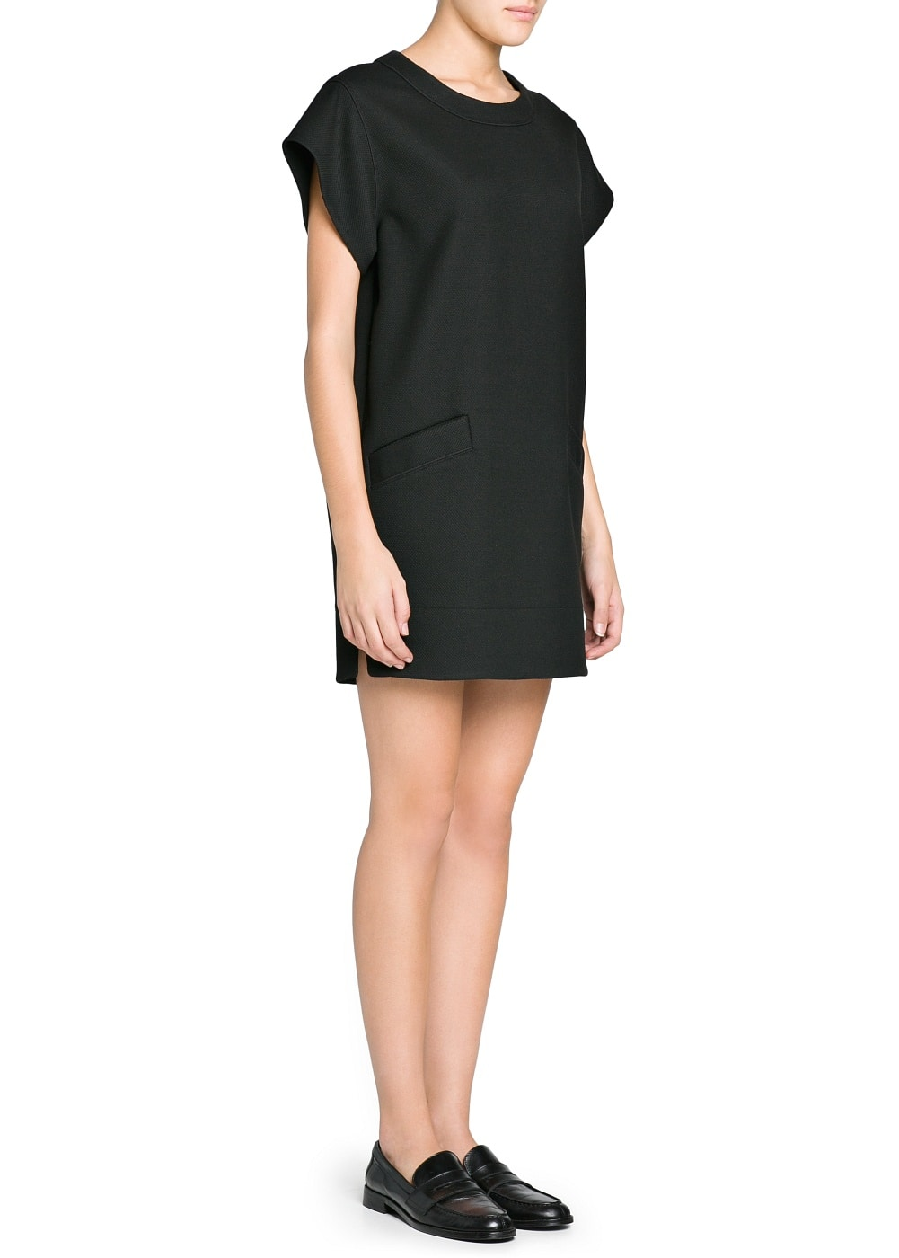 Textured shift dress | MANGO