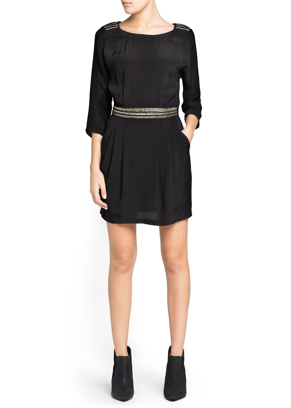 Embellished crepe dress | MANGO