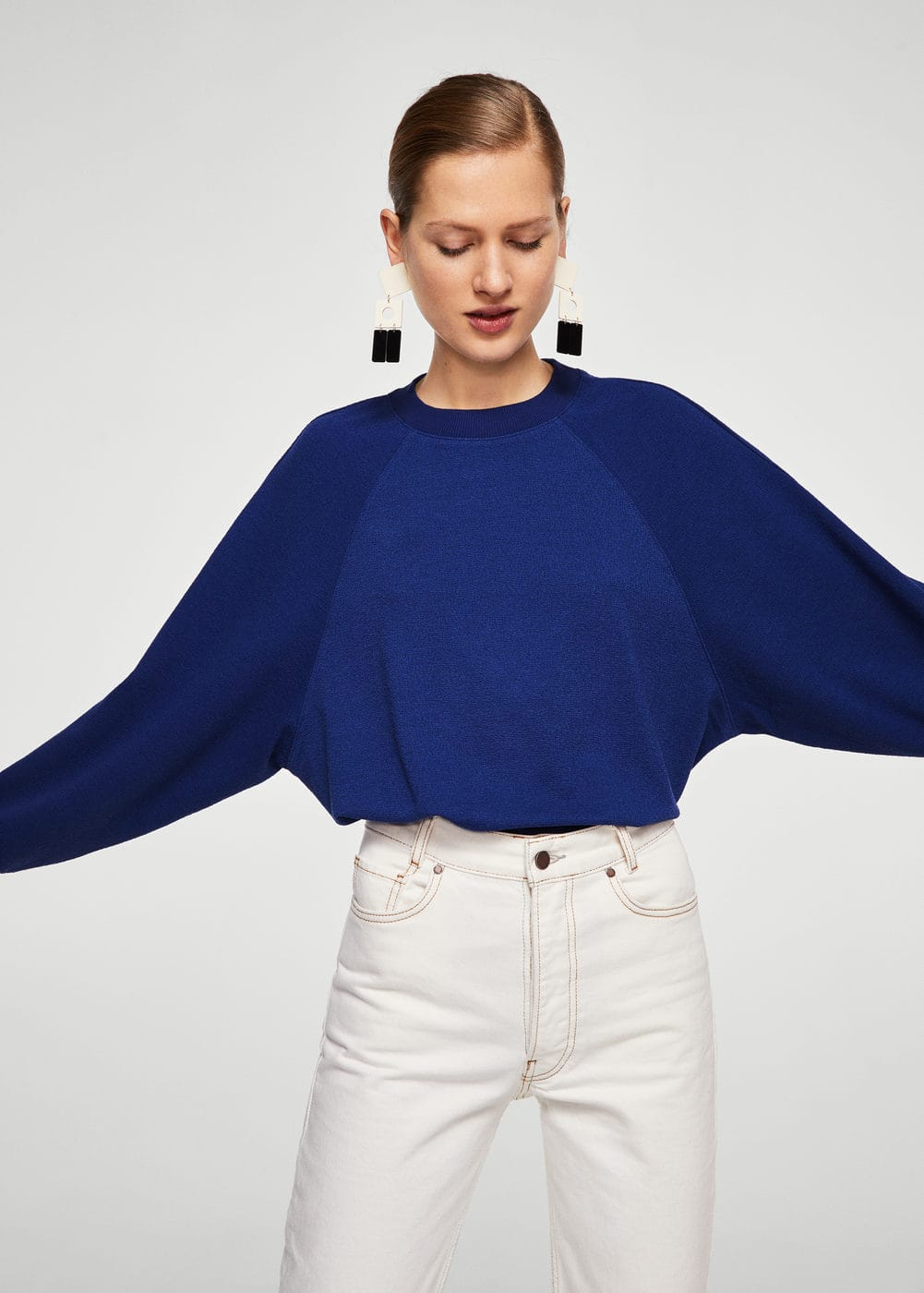 Textured sweatshirt | MANGO