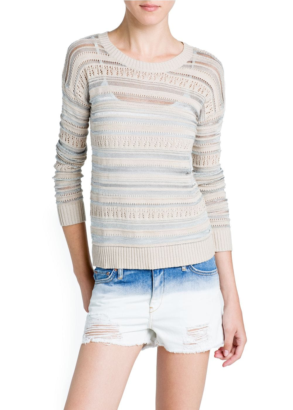 Metallic details sweater | MANGO