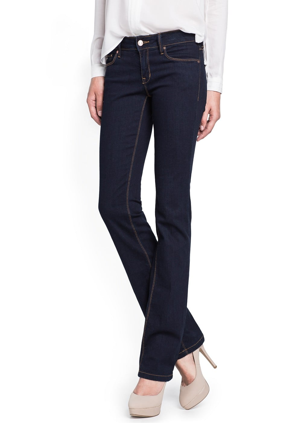 Straight-fit dark jeans | MANGO