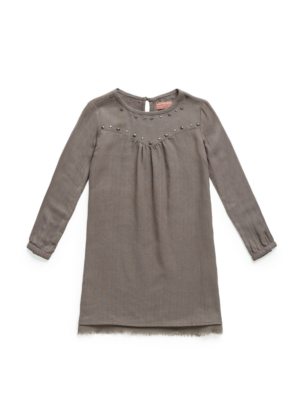 Studded cotton dress | MANGO KIDS
