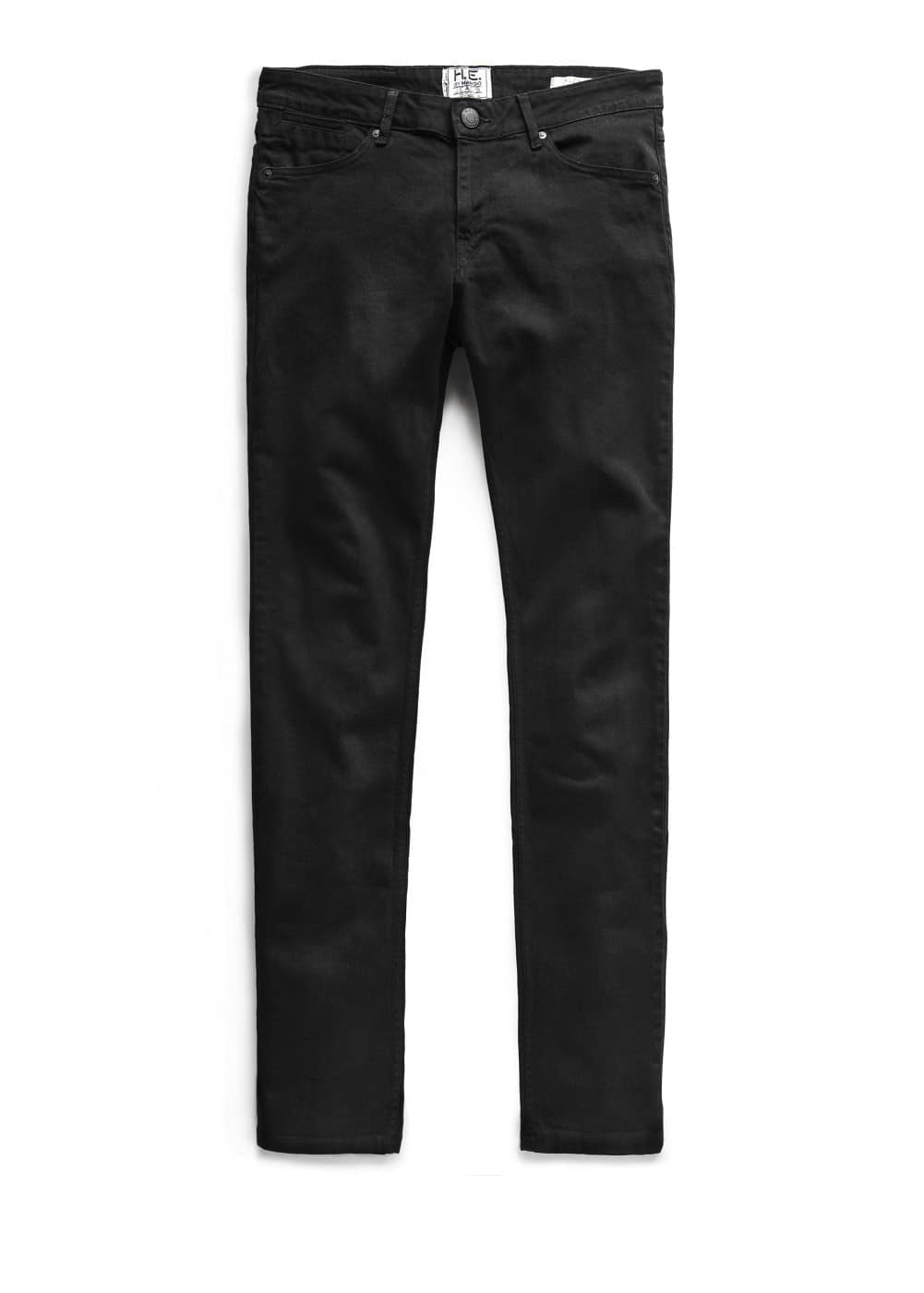 Slim-fit black alex jeans | MANGO MAN