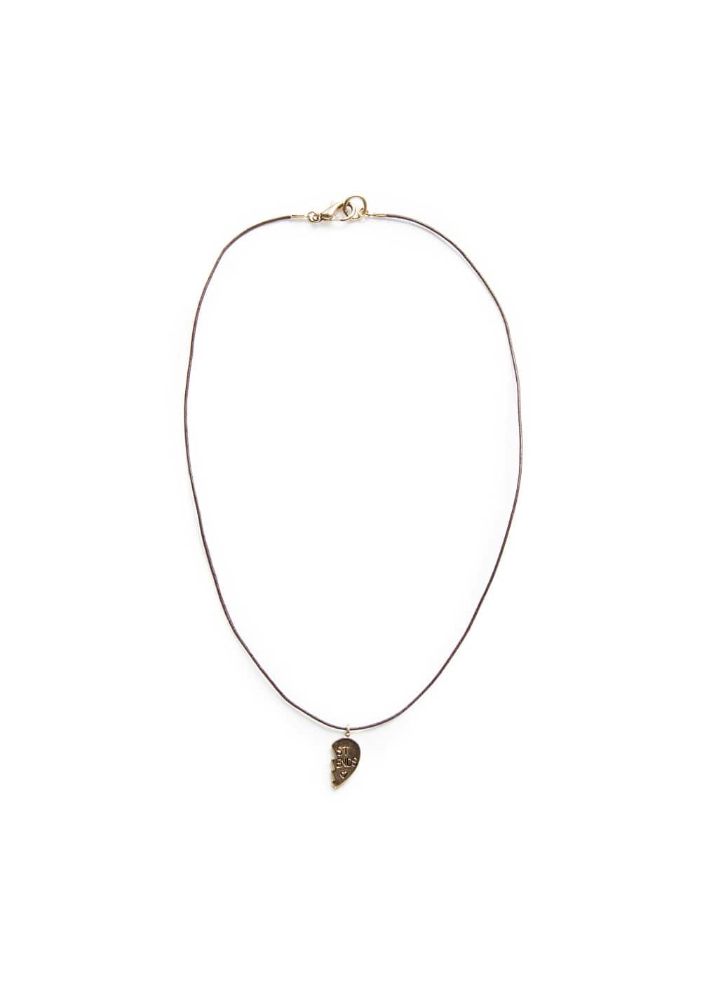 Broken heart necklace | MANGO KIDS