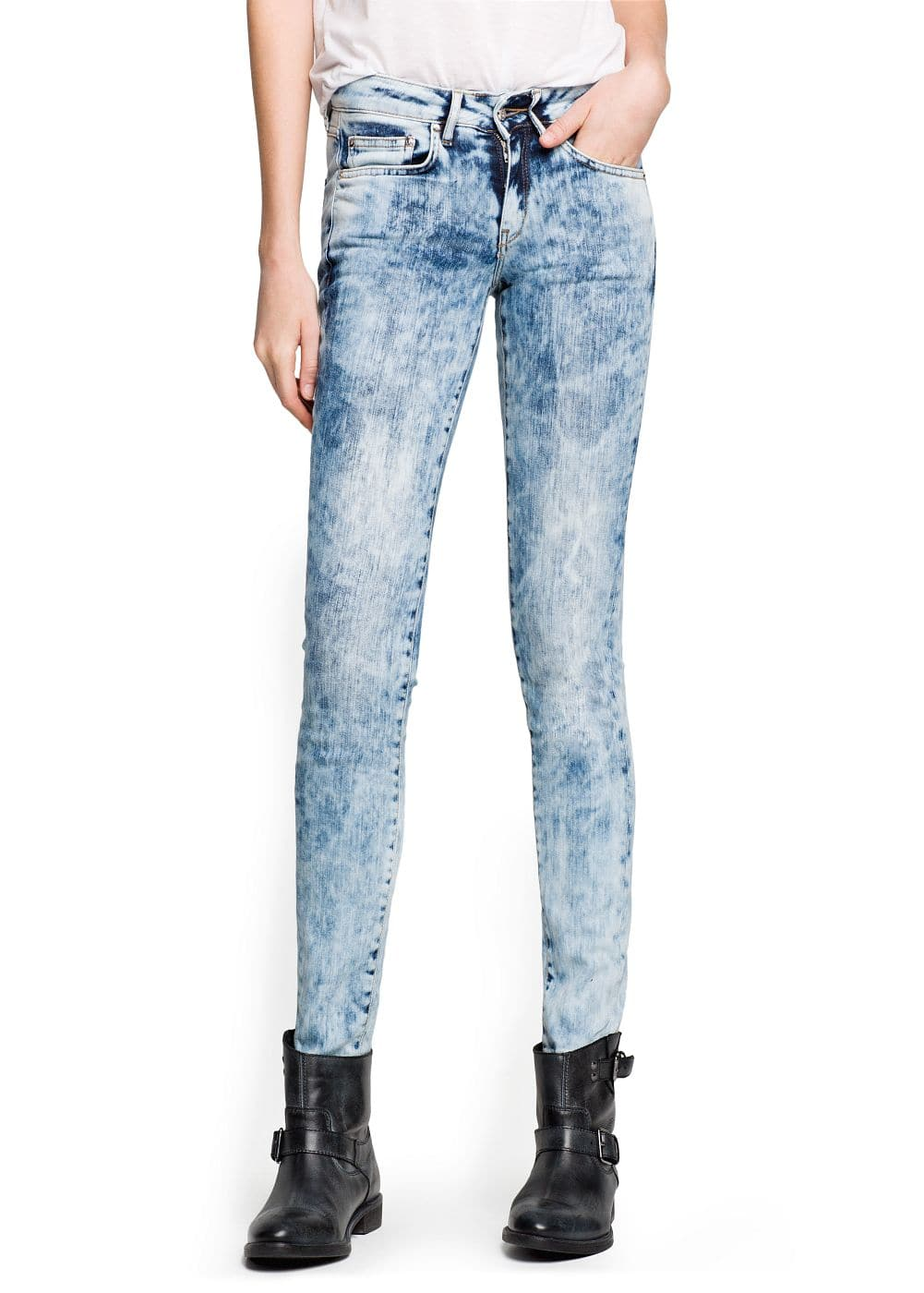 Super slim-fit bleached jeans | MANGO