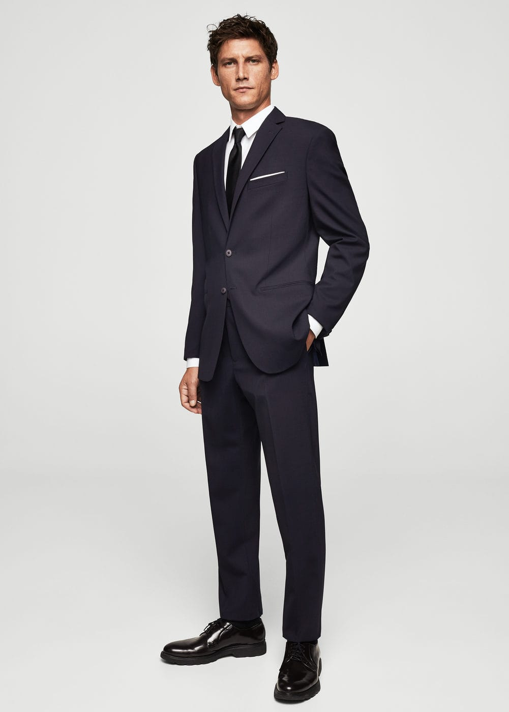 Slim-fit cool wool suit trousers | MANGO MAN