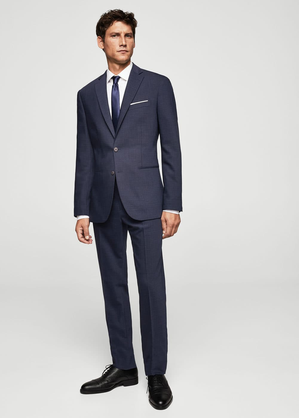 Slim-fit wool suit trousers | MANGO MAN