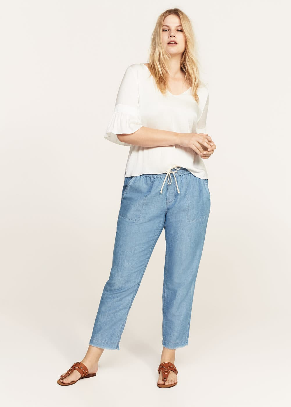 Flared sleeve blouse | VIOLETA BY MANGO