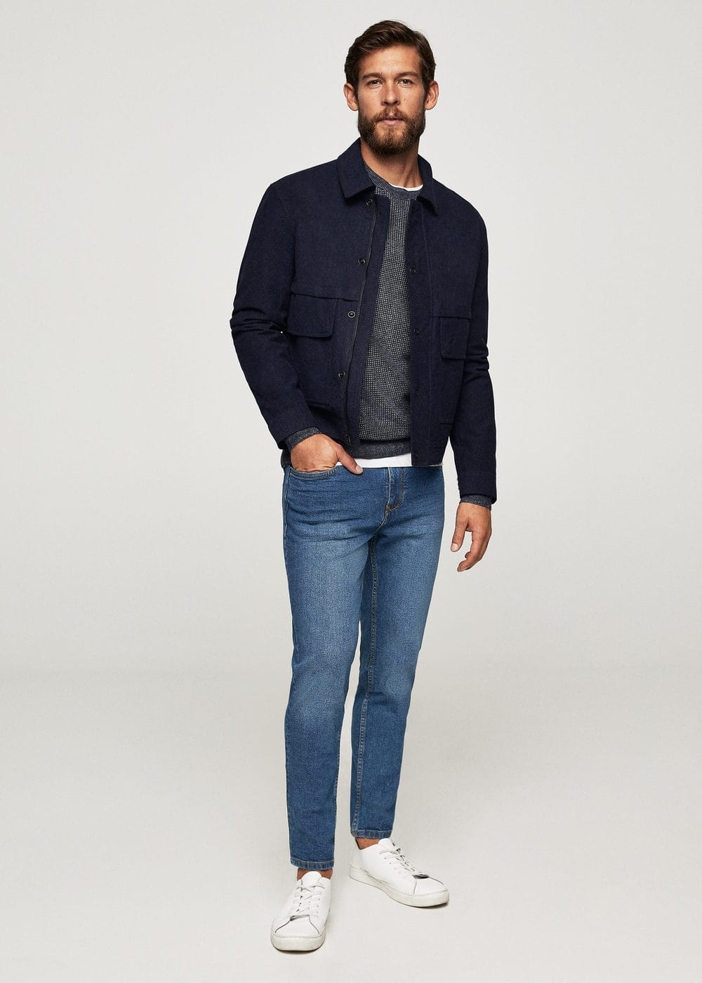Jeans jan slim-fit lavado oscuro | MANGO