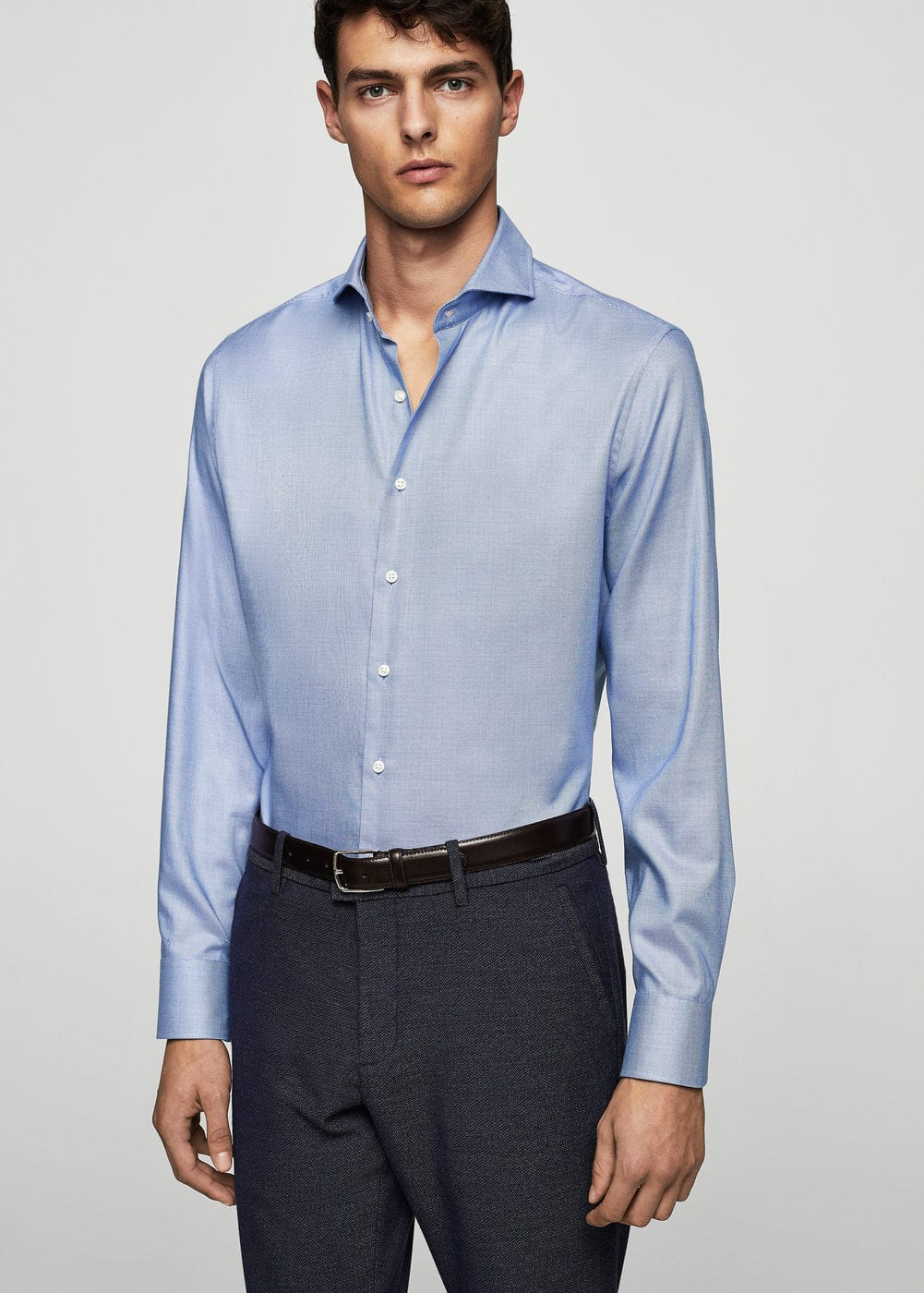 Camisa tailored slim-fit algodón | MNG