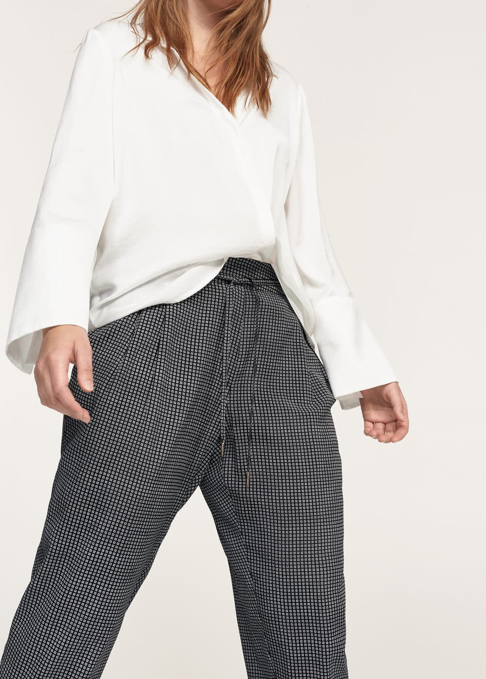 Printed baggy trousers | VIOLETA BY MANGO