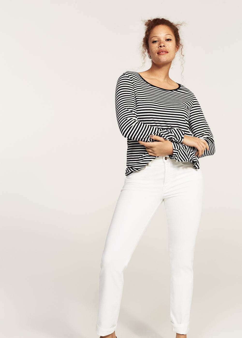 Slim-fit straight theresa jeans | VIOLETA BY MANGO