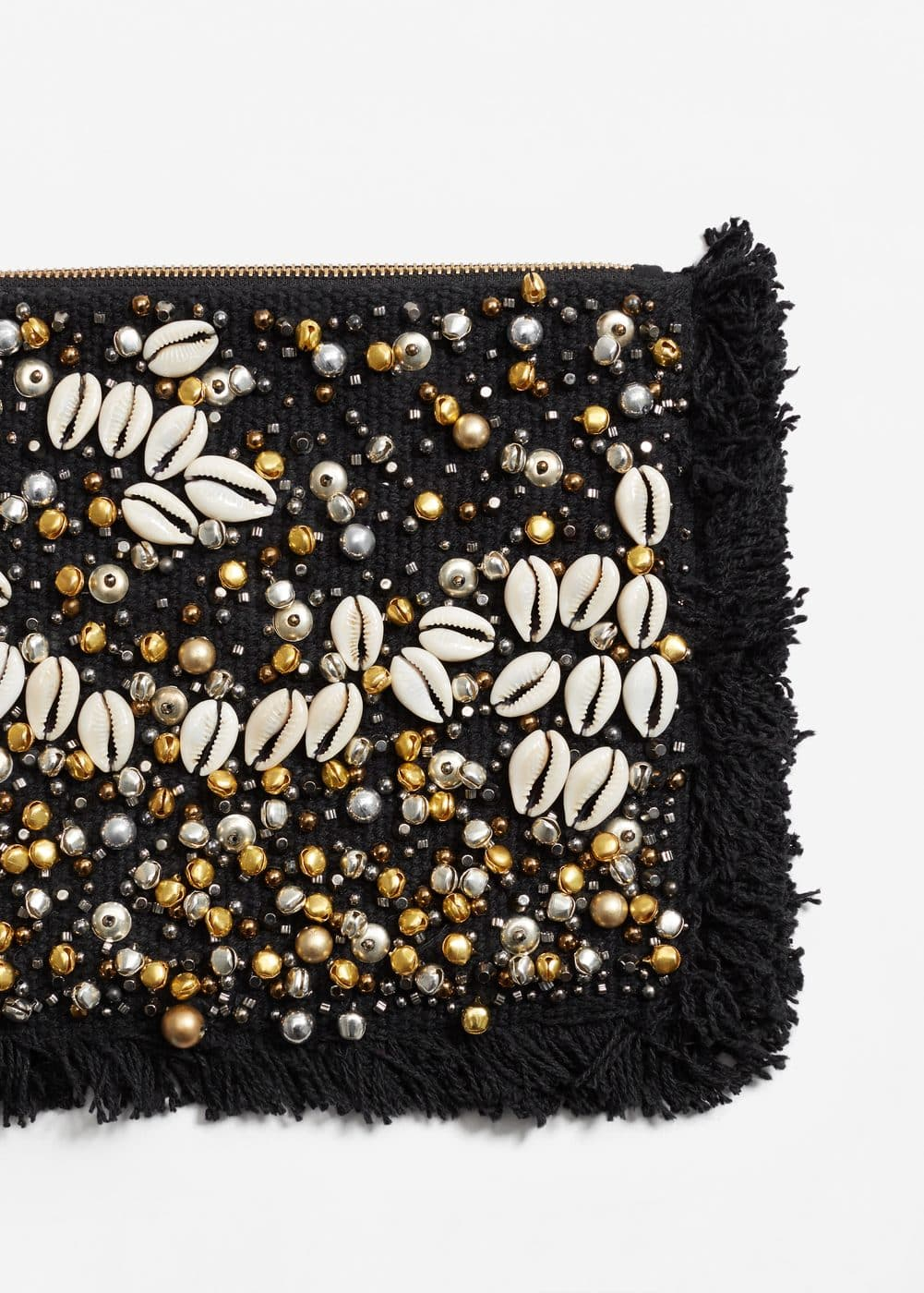 Beaded panel clutch | MANGO