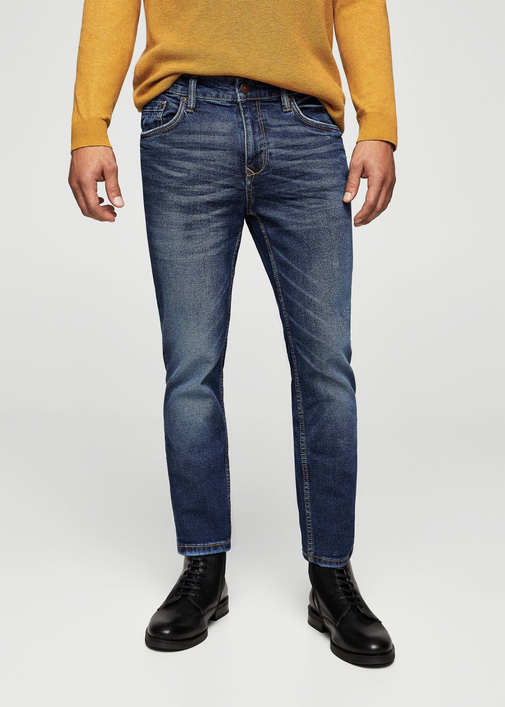 Dunkle slim fit jeans tim | MANGO