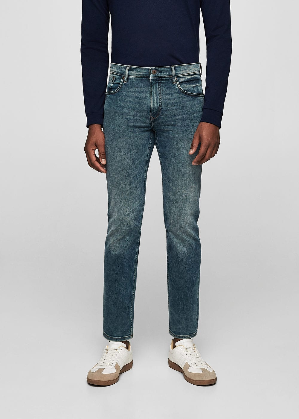 Jeans tim slim-fit lavado medio | MANGO