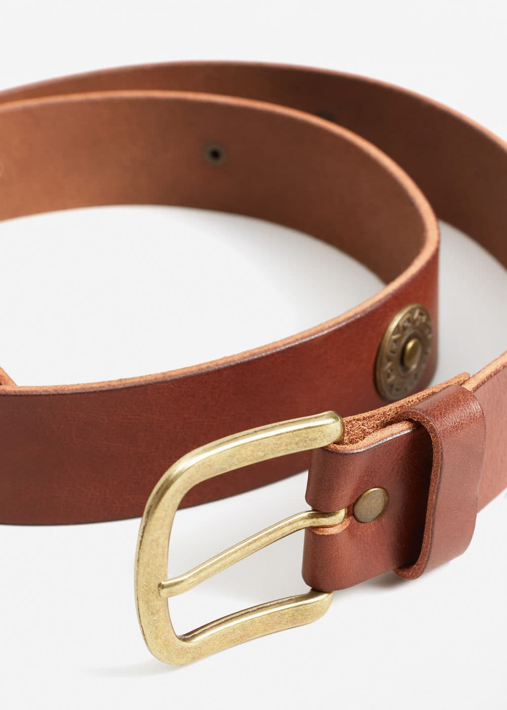Appliqués leather belt | MANGO