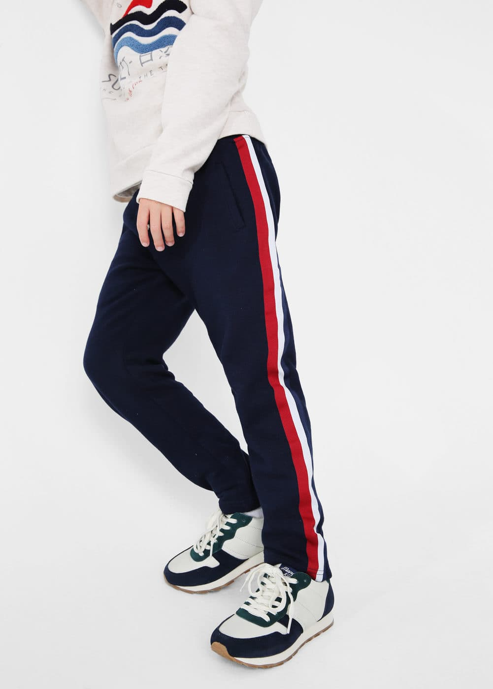 Contrasting trims jogging pants | MANGO