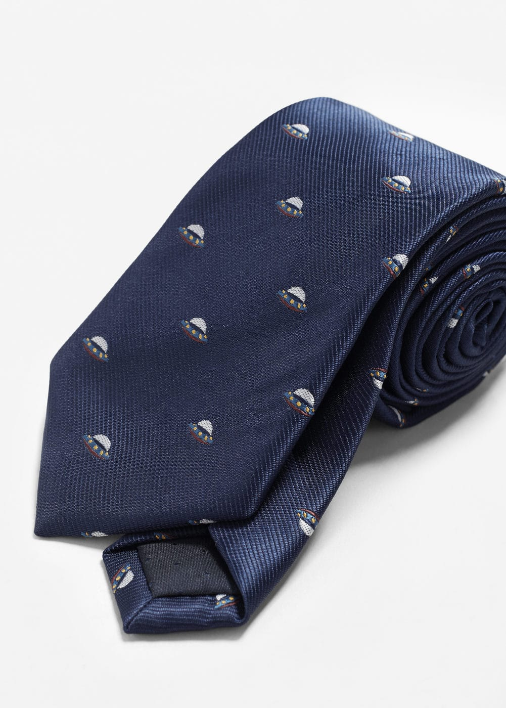Space patterned tie | MANGO MAN