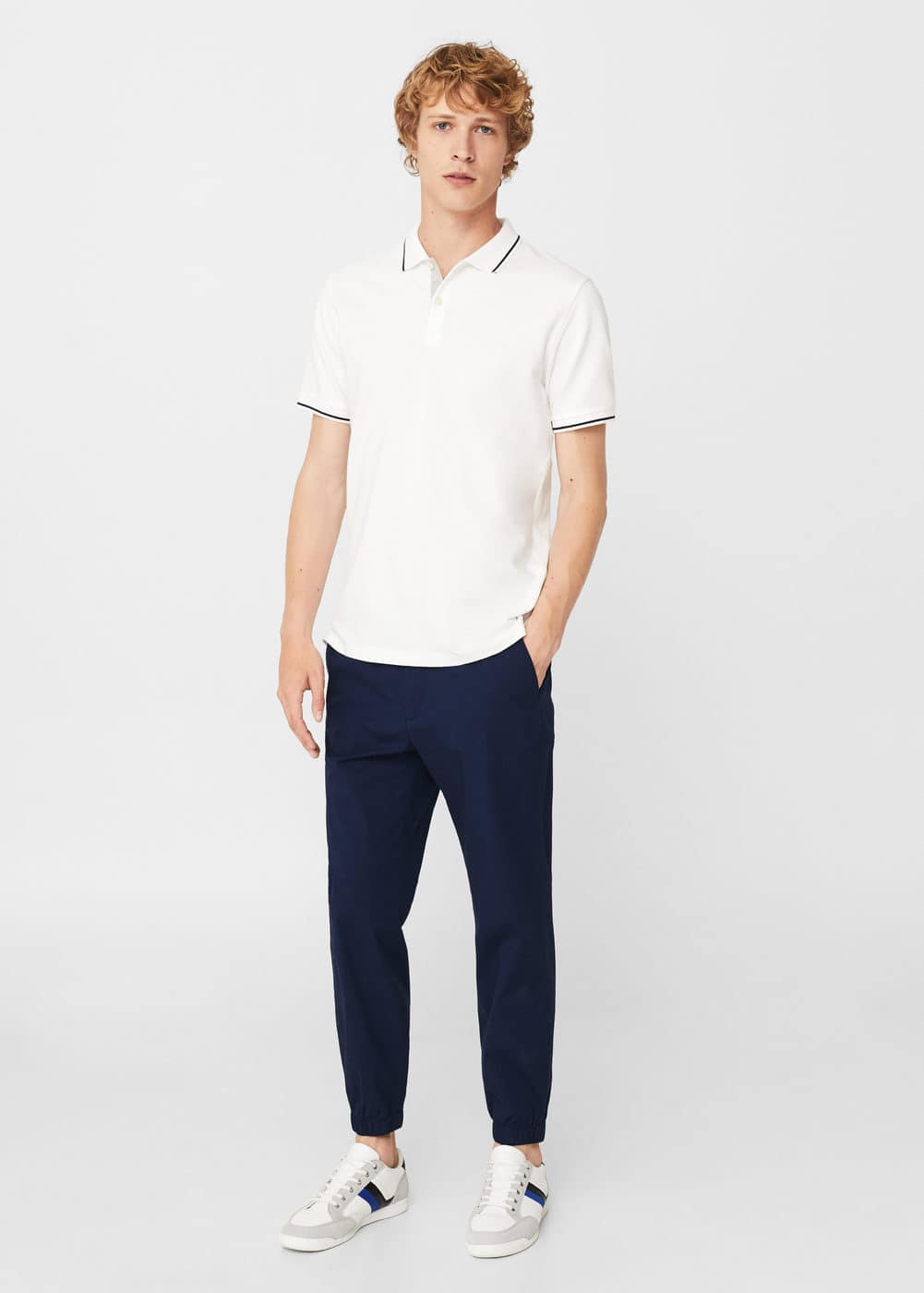 Slim-fit cotton-piqué polo shirt | MANGO