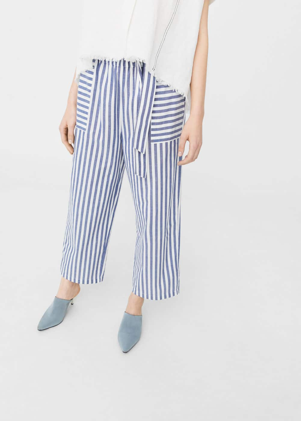 Striped palazzo trousers | MNG