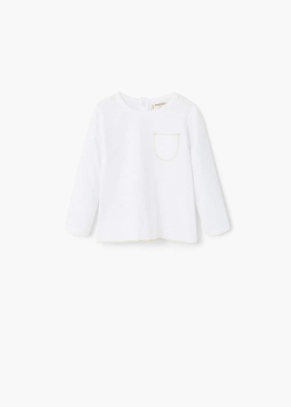 Contrast chest-pocket t-shirt | MANGO