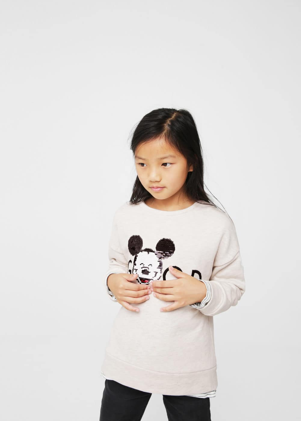 Reversible sequins sweatshirt | MANGO