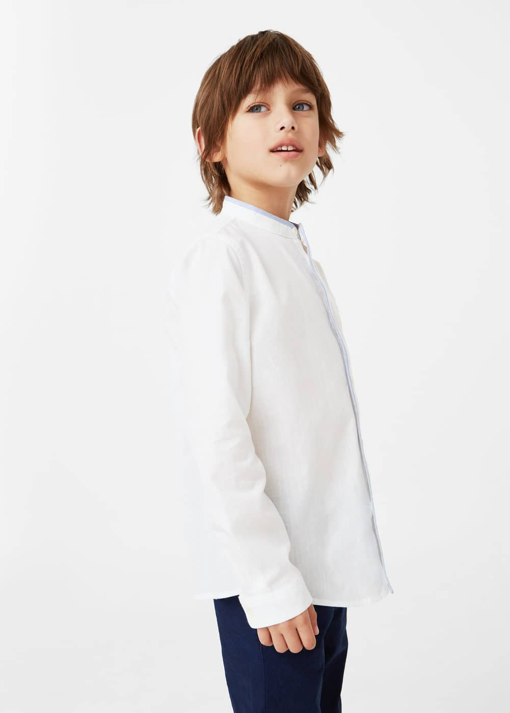 Camisa panell contrast | MANGO KIDS