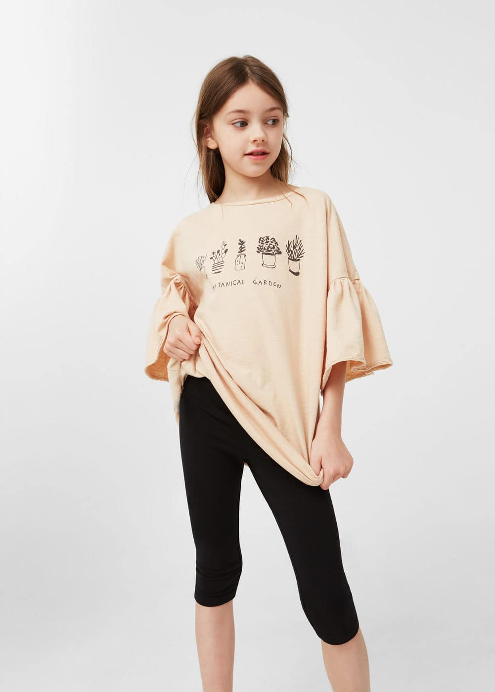 Cotton crop leggings | MANGO KIDS