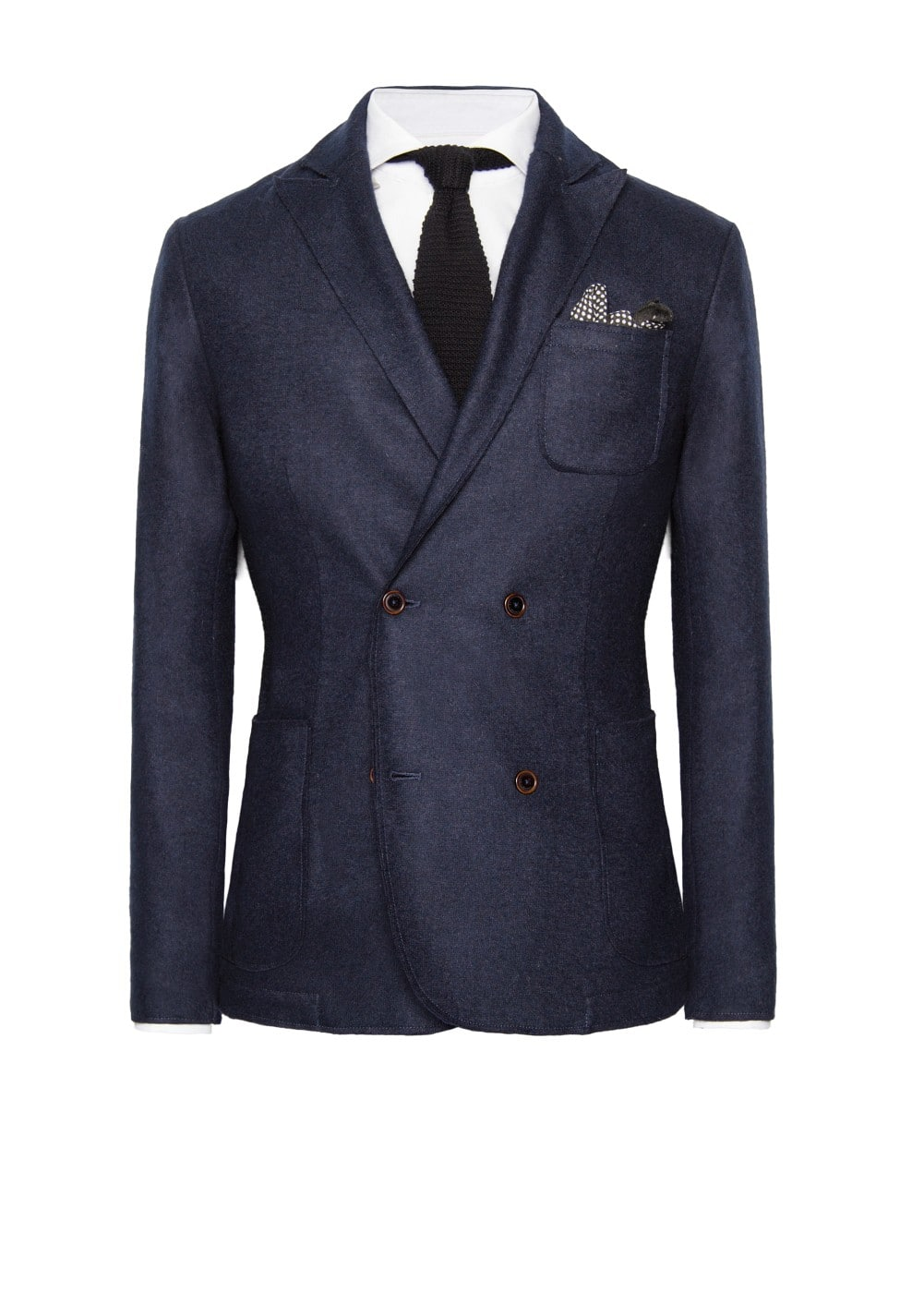 Double-breasted wool-blend blazer | MANGO