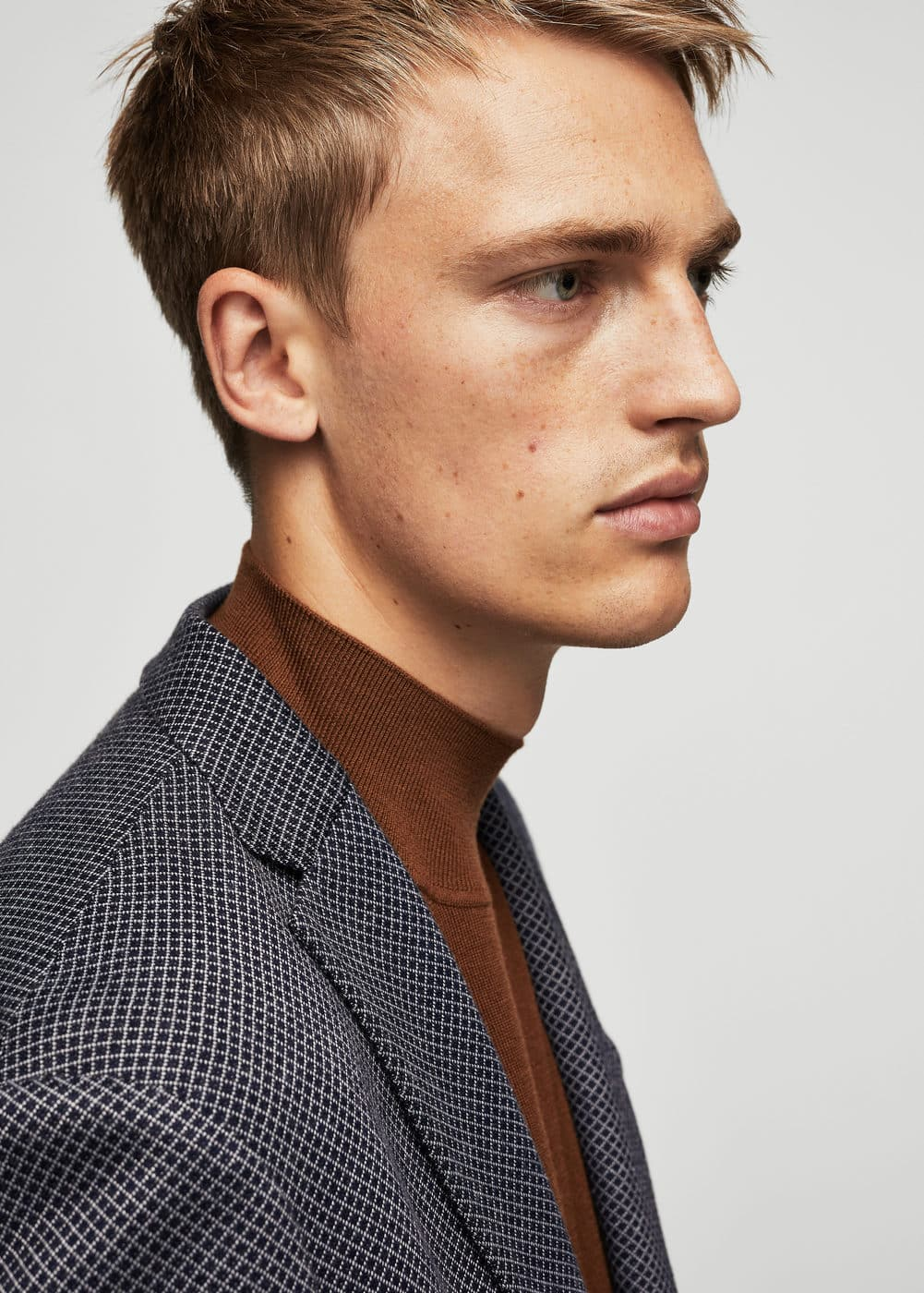 Veste slim-fit à carreaux | MANGO MAN