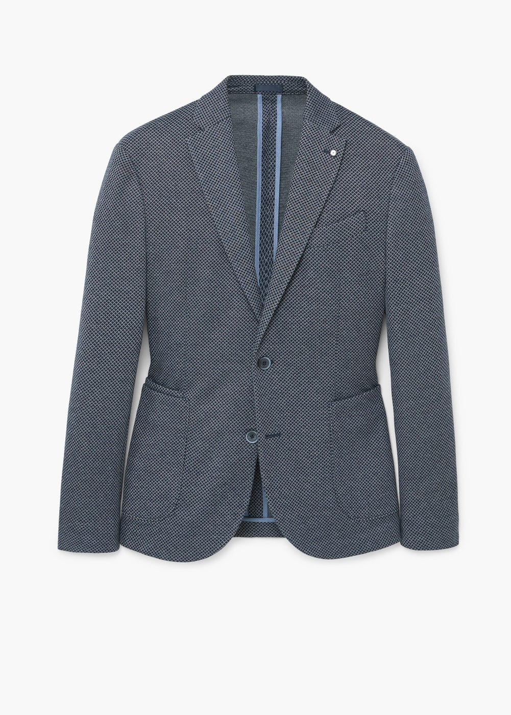 Slim-fit check blazer | MANGO MAN