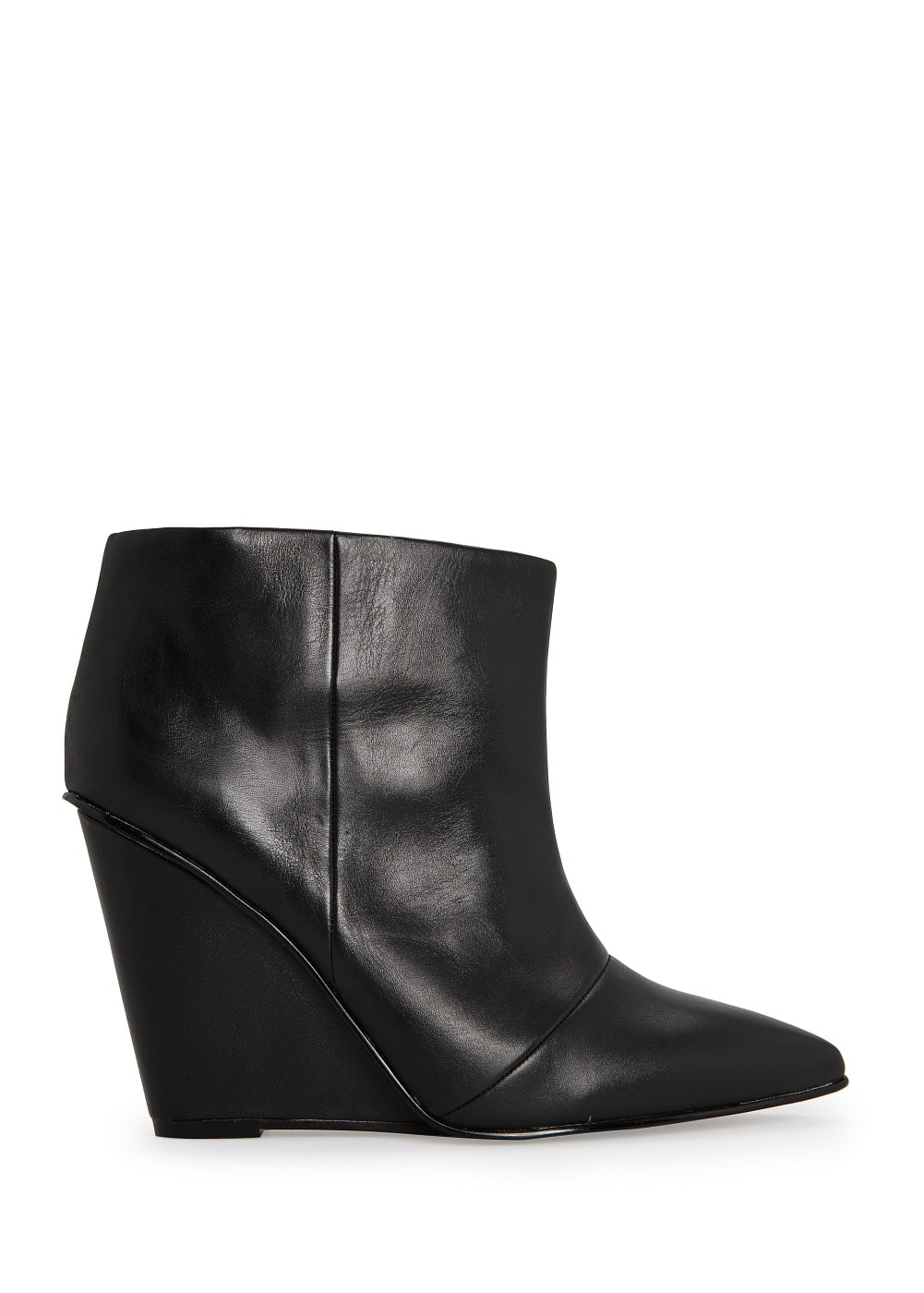 Wedge leather ankle boots | MANGO