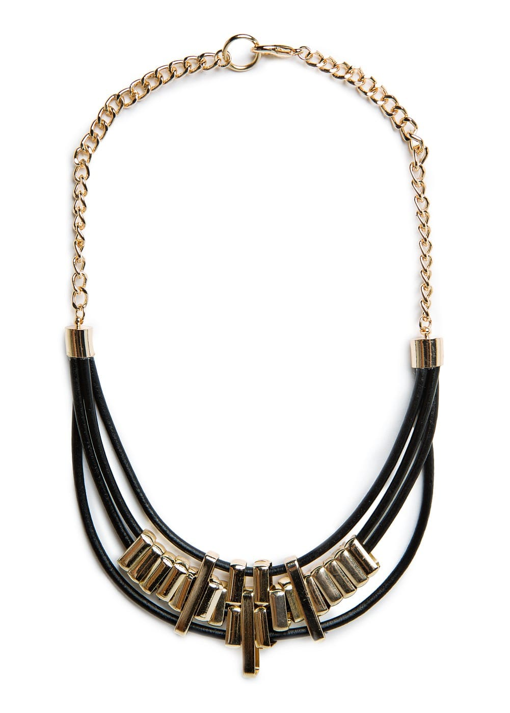 Leather cords necklace | MANGO