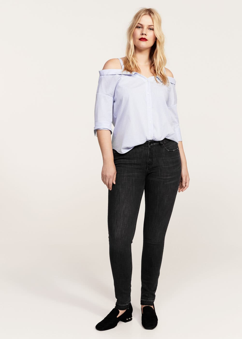 Super slim-fit andrea jeans | VIOLETA BY MANGO