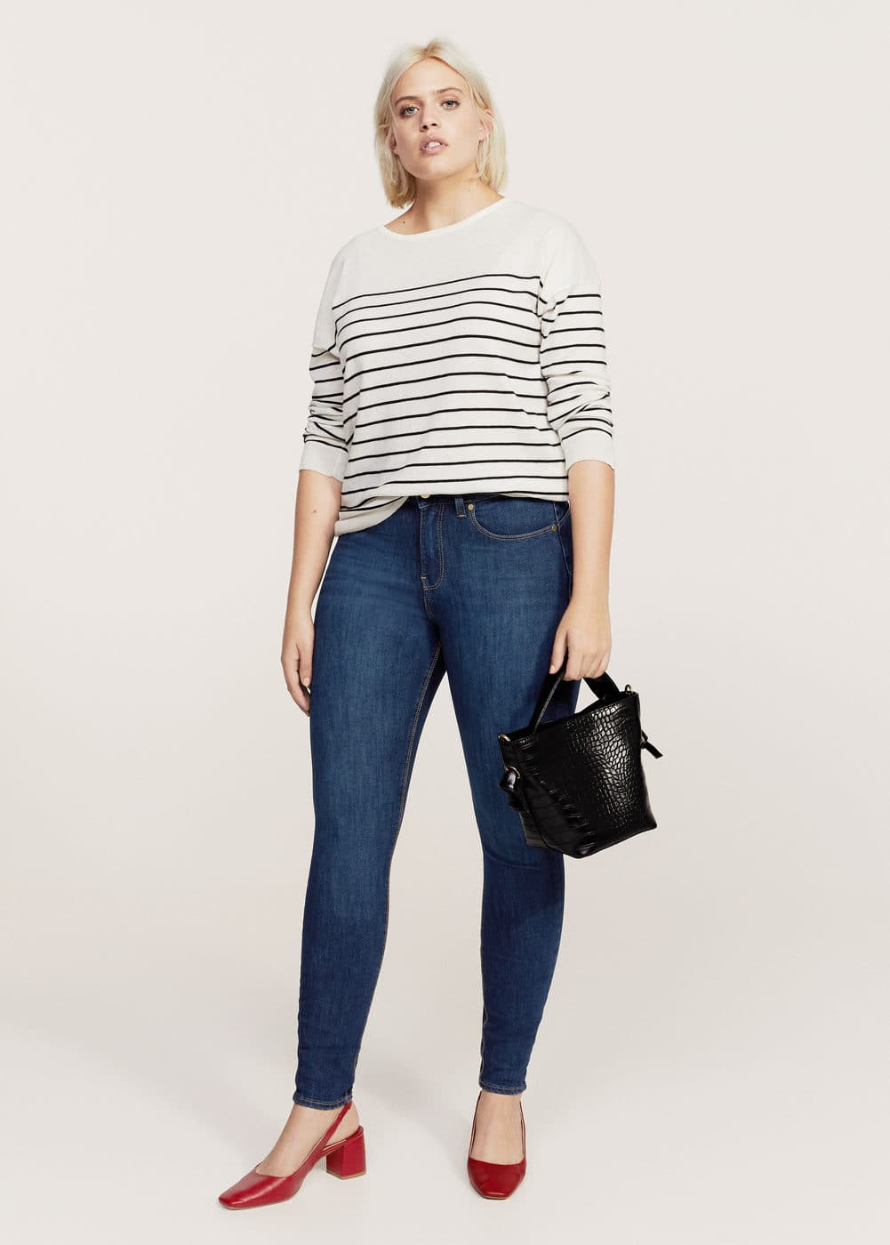 Bi-stretch push-up jeans | MANGO